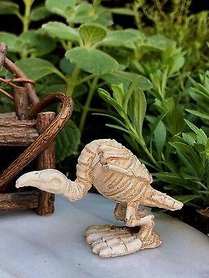 Miniature Dollhouse FAIRY GARDEN ~ Mini HALLOWEEN Buzzard Skeleton Figurine NEW - Halloween Fairy Garden