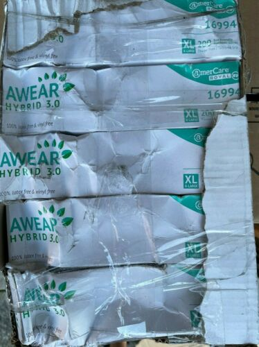 1,000 Gloves Amercare Hybrid XLarge - ***READ COMPLETELY***