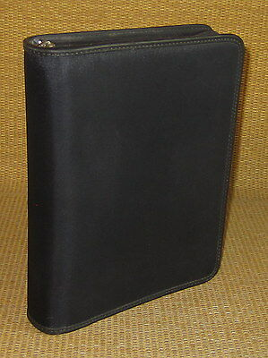 Classic 1.5 Rings Black Durable Woven Franklin Covey Zip Plannerbinder