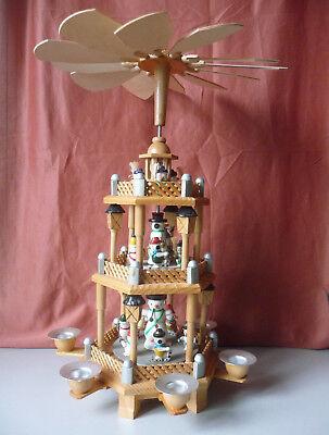 Christmas Pyramid Drehturm Three Stories With