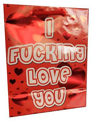 - I F****** Love You - Red Foil Gift Bag Valentine's Day