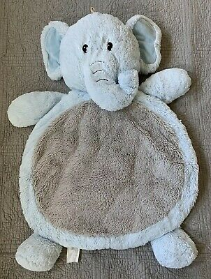 Bestever Baby Mat by Mary Meyer Elephant Pre-owned Soft Plush Blue Gray