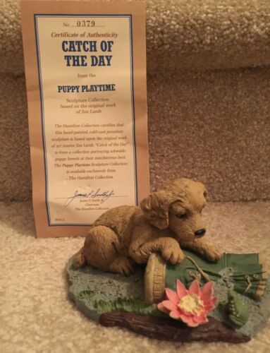 Hamilton Collection Figurine COCKER SPANIEL 1990 Catch of the Day FREE SHIP
