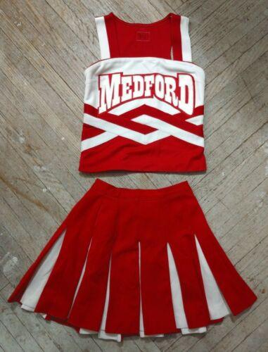 Vintage REAL High School Cheer White Red Medford Cardinals Cheerleading Uniform