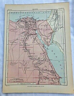 circa 1880s map of egypt ( adam & charles black )