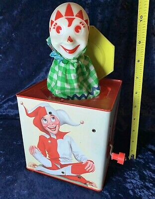 Vintage 1960s Jester Jack In The Box Ray Quigley Art Lorraine Novelty