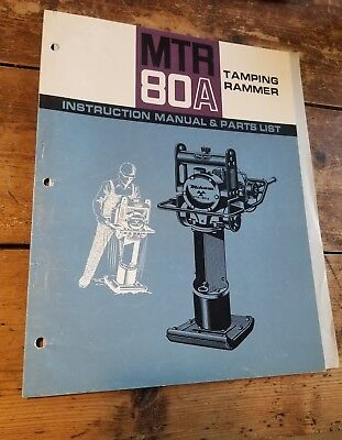 Mikasa Tamping Rammer Mtr-80a Instruction Manual And Parts List 07-74-3000