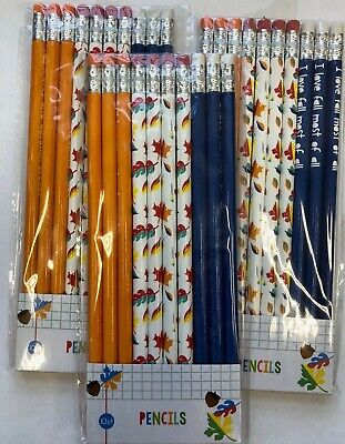 Fall Themed Parties (30 (3 packs /10) Fall themed Pencils Classroom Reward Party Favor leaves)