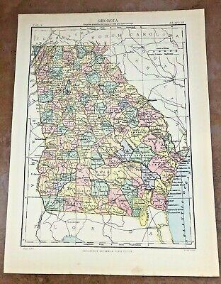 circa 1880s map of georgia ( adam & charles black )