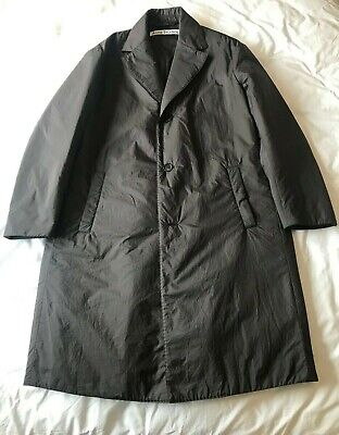 Acne Studios Oversized Coat Overcoat Ripstop Black - Size 48