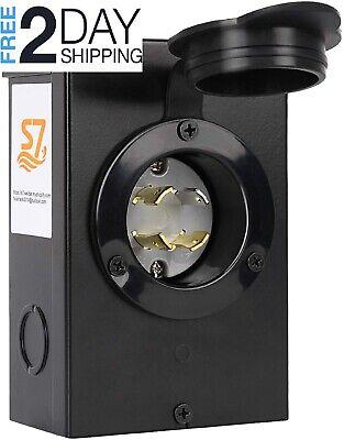 30-amp Power Inlet Box Generators Up To 7500 Running Watts S7 Nema 3r New