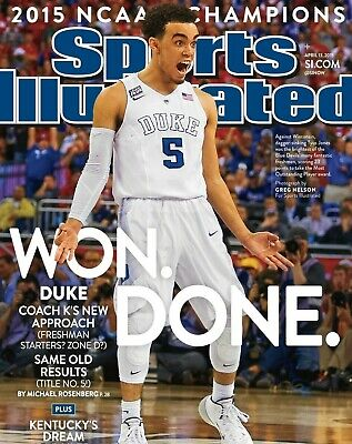 2015 Duke Blue Devils NCAA Champs Sports Illustrated Cover Photo - select size  (Duke Blue Devils Cover)