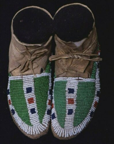 Antique Lakota Child Mocassins - Native American