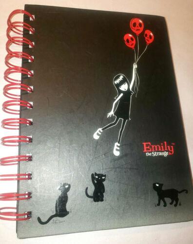 Emily the Strange ESP 2003 Black Spiral Journal Floating Away Skull Ballons EUC!