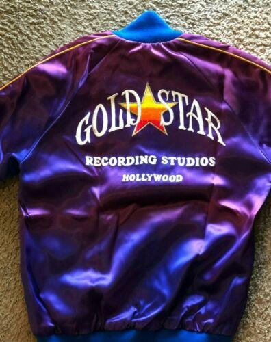 Vintage Music Studio Satin Jacket GOLD STAR RECORDING STUDIO - 34 XXS