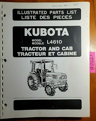 Kubota L4610 Tractor Cab Illustrated Parts List Manual 97898-22240