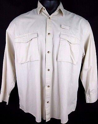Gander Mountain Vented Long Sleeve Fishing Shirt Size Extra Large Xl