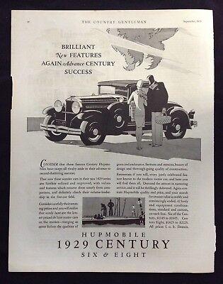 1928 Antique Automobile Magazine Ad ~ Hupmobile 1929 Century Six & Eight
