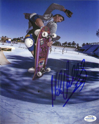 Mike V Vallely Signed Skateboarding 8x10 Photo EXACT Proof ACOA E Bones Brigade