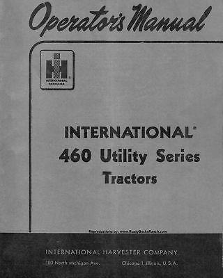 Farmall 460 Utility Series Tractors Operators Manual
