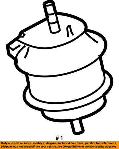 Infiniti Nissan Oem 06 07 M35 Engine Motor Mount Torque Strut