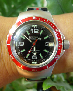 Vostok Amphibia Automatic Russian Diving Watch 31 Jewels
