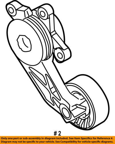 Ford Oem Serpentine Fan Belt Tensioner 9l8z6b209a
