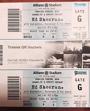 ED SHEERAN TICKETS X2 - SYDNEY 9TH DEC - Seated B Reserve Kyeemagh Rockdale Area Preview