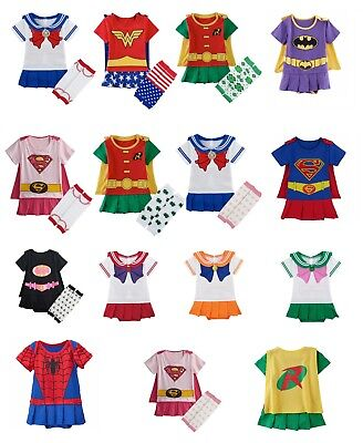 Baby Girl Romper costume Comic book Superheroes body suit MARVEL & DC characters (Marvel Characters Costumes)