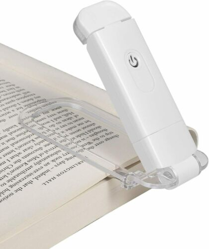 DEWENWILS USB Rechargeable Book Light LED Clip On Book Light for Reading in Bed