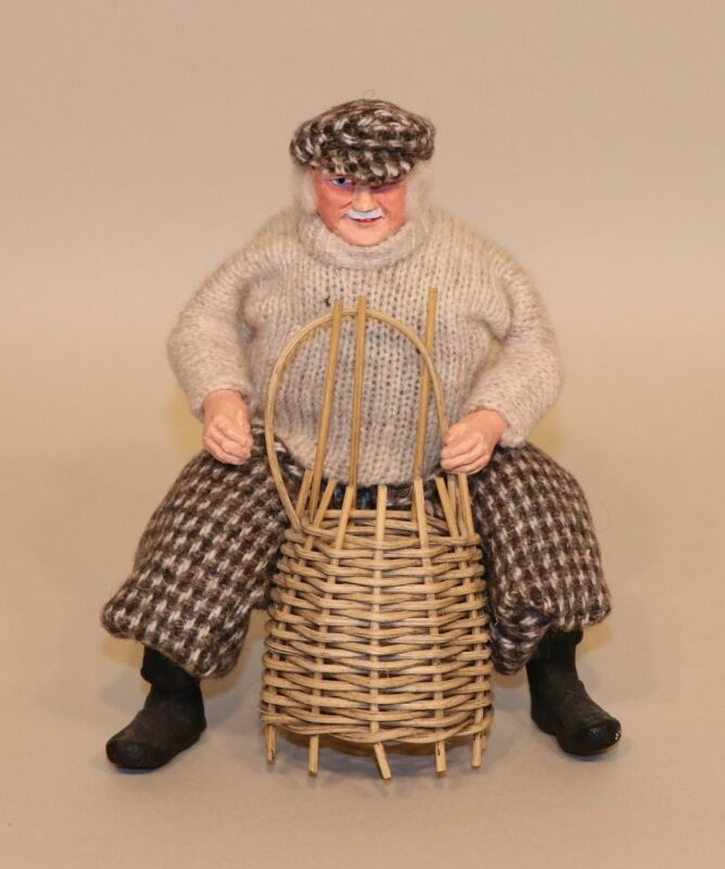 Sheena MacLeod Highland Character Doll Cloth Lobster Man Fisherman with Trap