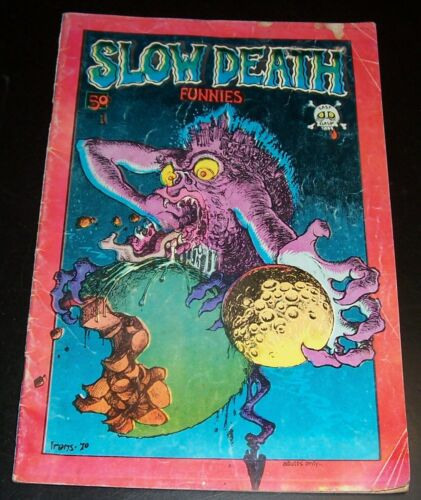 Slow Death Funnies #1 1970 R Crumb, Greg Irons, Shelton, 1st print, Red Border