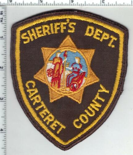Carteret County Sheriff (North Carolina) 1st Issue Uniform Take-Off Patch