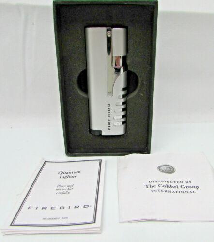 Colibri Quantum Firebird Windproof Jet Flame Lighter, Color: Silver, New