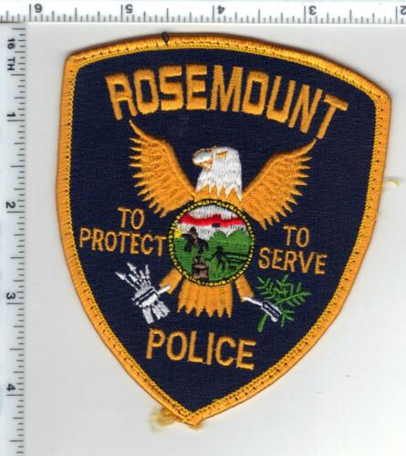 Rosemount Police (Minnesota) Uniform Take-Off Shoulder Patch from 1980
