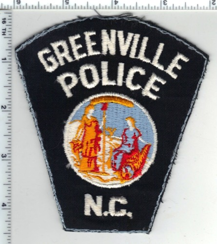 Greenville Police (North Carolina) Uniform Take-Off Shoulder Patch Early 1980