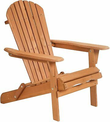 Adirondack Chair,Folding Wooden Lounger Chair,All-Weather Chair Home & Garden