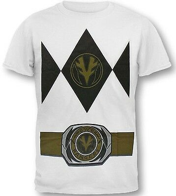 Hybrid Power Rangers White Ranger Men's Costume T-Shirt New ()
