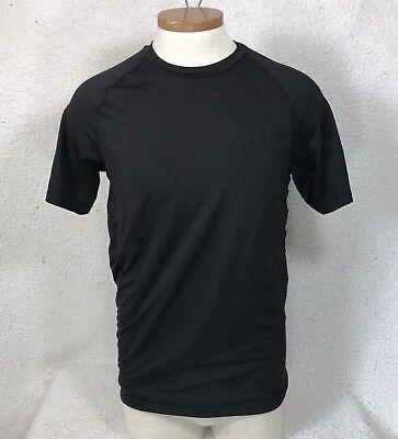 Men's Starter Fitted T-shirt Sz Medium (38/40) Black Short Sleeve Base Layer Top ()