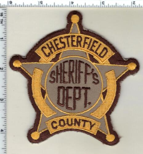 Chesterfield County Sheriff (South Carolina) 2nd Issue Shoulder Patch 1992