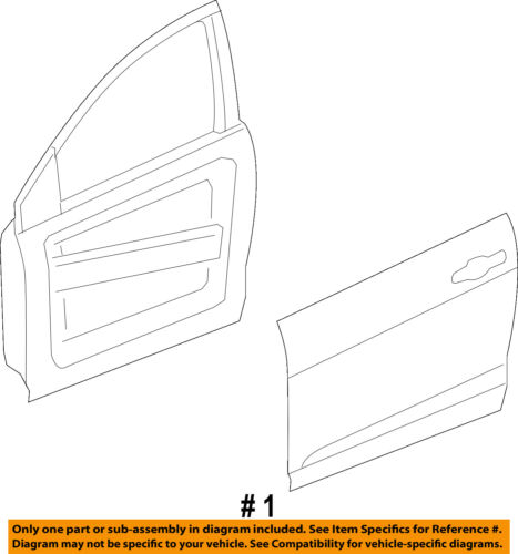 Dodge CHRYSLER OEM 13-16 Dart Front Door-Shell Frame Panel Right 68158724AB