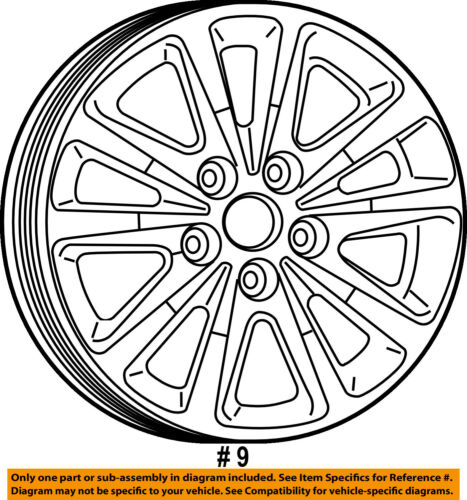 Dodge Chrysler Oem 2018 Grand Caravan Wheel Alloy Aluminum