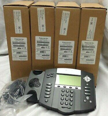 Lot Of 4 Polycom Soundpoint 2200-12550-001 Ip 550 4-line Sip Voice Over Phone