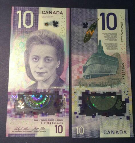 CANADA  2018 $ 10 BANKNOTE. VIOLA DESMOND, UNCICULATED  BEAUTIFUL
