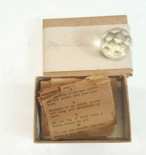 ANTIQUE  VINTAGE  CRYSTAL FORTUNE TELLING BALL GAME  Rare