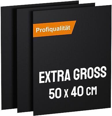 KOMOTO® BBQ Grillmatte (3er Set) 50x40 cm Extra Dick Für Gasgrill und Holzkohle
