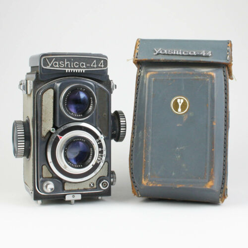 Yashica 44 TLR 127 Film Camera + Case - For Parts or Repair