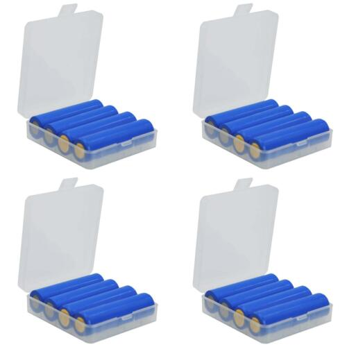 4 Pack Protective Storage Case Holder for 18650 Batteries or CR123A Batteries