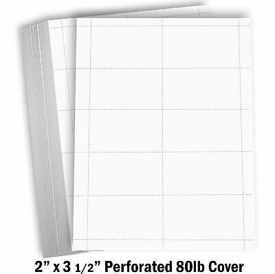 Blank Business Cards Card Stock Paper Index Perforated 100 Sheets 1000 Cards