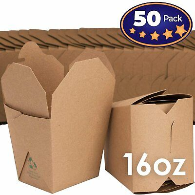 Microwavable Brown Chinese 16 oz Take Out Boxes. 50 Pack by Avant Grub...](Takeout Box)